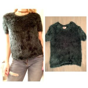 Sweaters - NWOT, Adorable Hunter Green furry sweater!